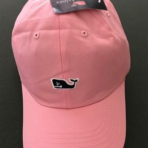 NWT Vineyard vines pink hat with whale logo